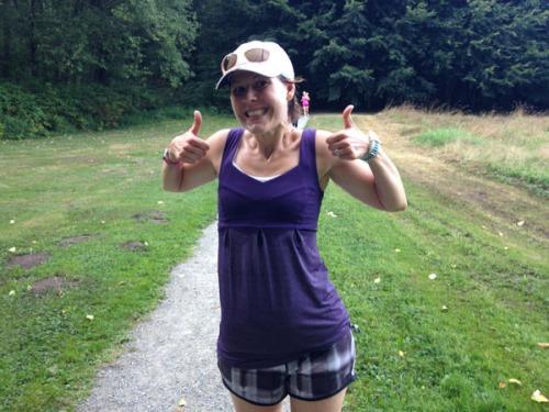 A sweaty mess following a super satisfying run.